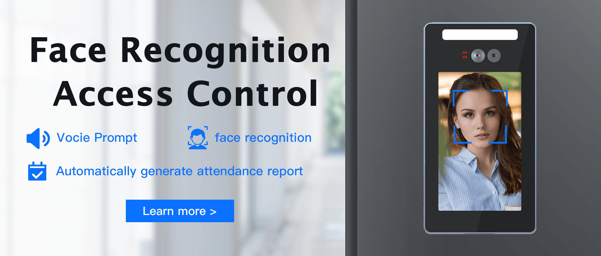 Face Recognition Family Access Control, Vocie Prompt, face recognition, Automatically generate atten