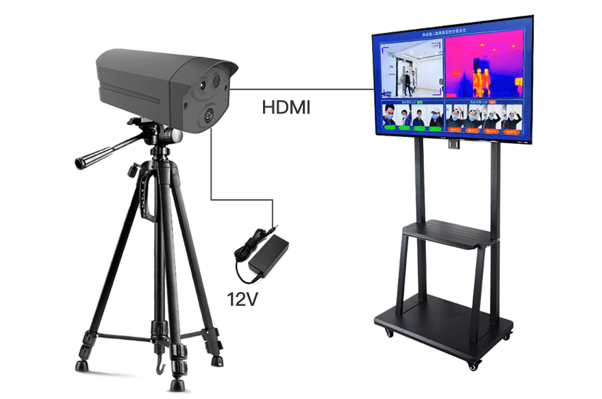 Big Screen Dynamic Temperature Checking Terminal Improve Public Place Detection Efficiency