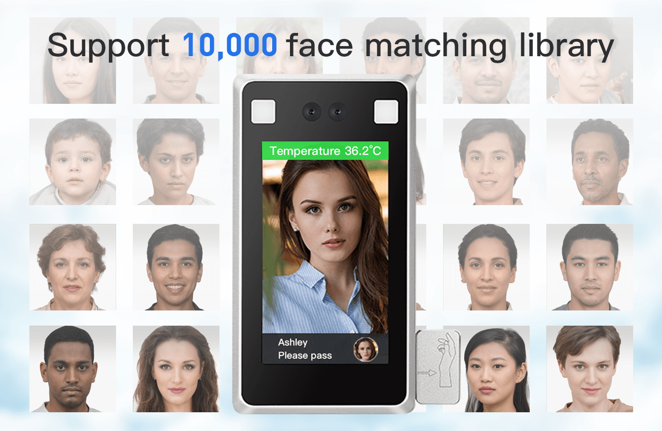 Support 10,000 face matching library