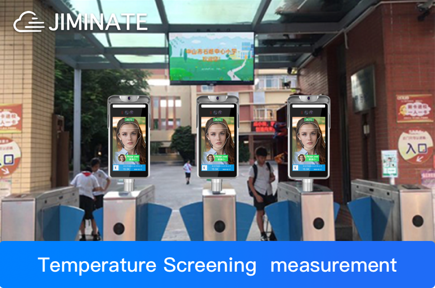 Residential communities install face recognition thermometers