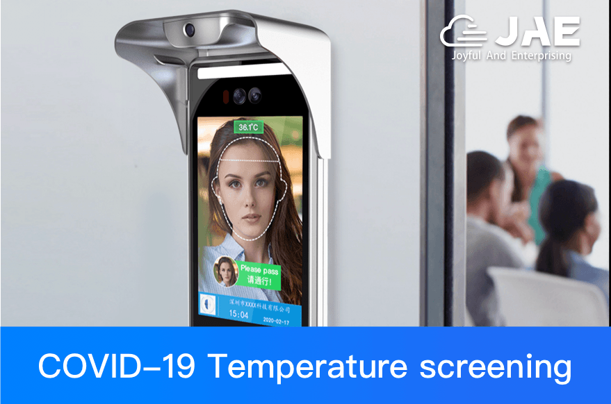 JAE's facial recognition temperature measurement device is suitable for every workplace