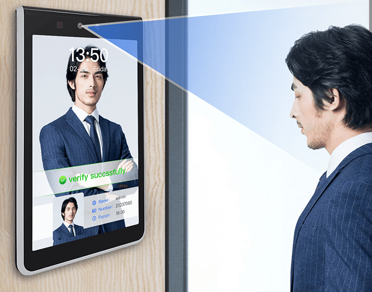 Thin and Light Face Recognition Touch Screen Access Control Machine