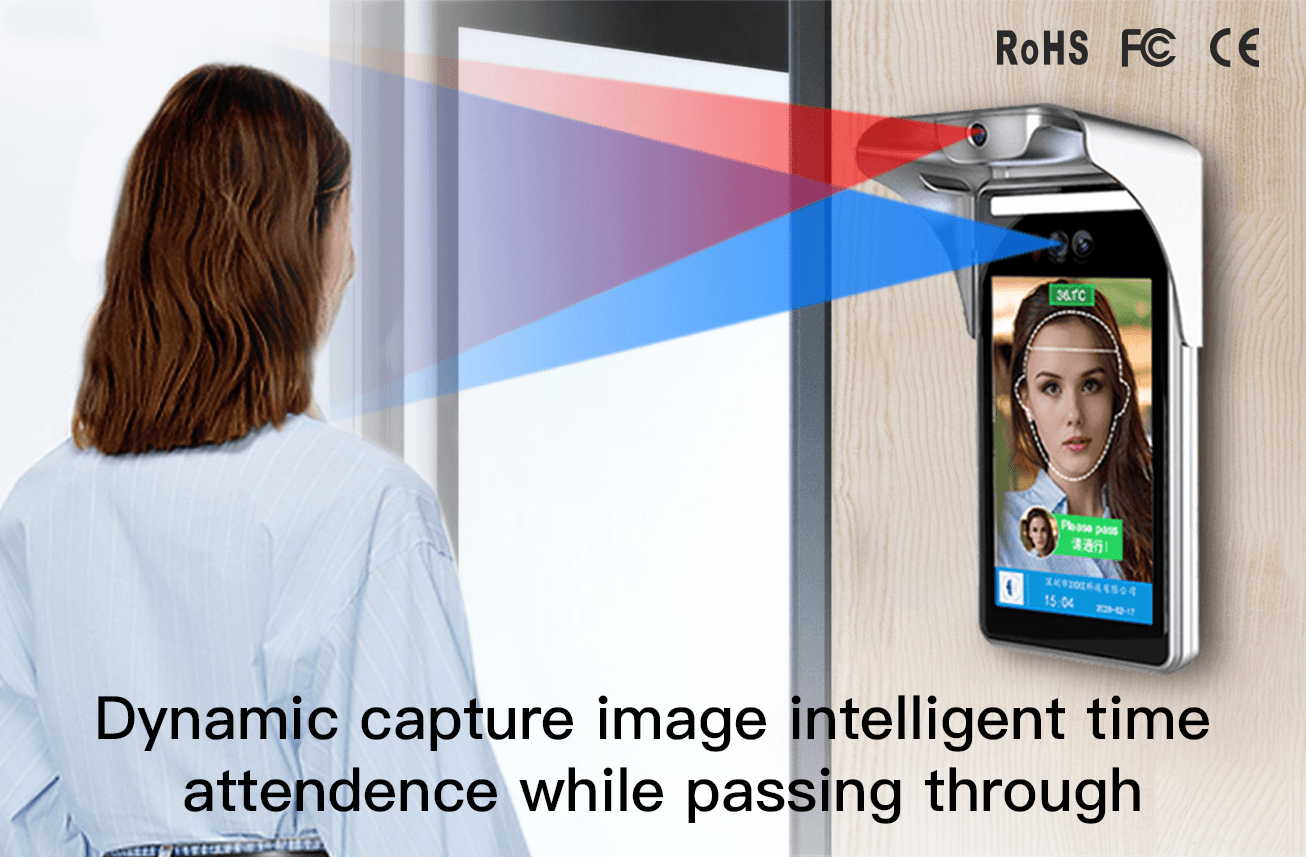 Dynamic capture image intelligent time attendence while passing through