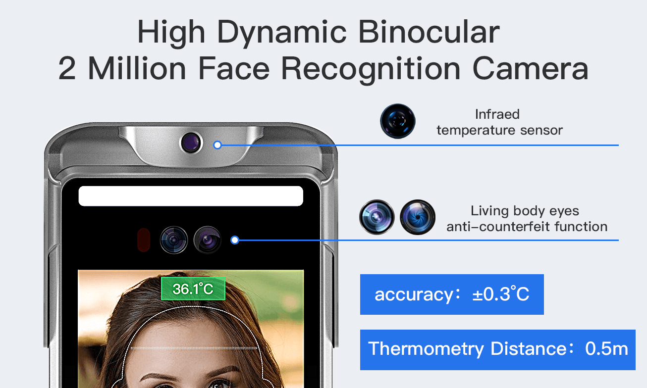 High Dynamic Binocular 2 Million Face Recognition Camera