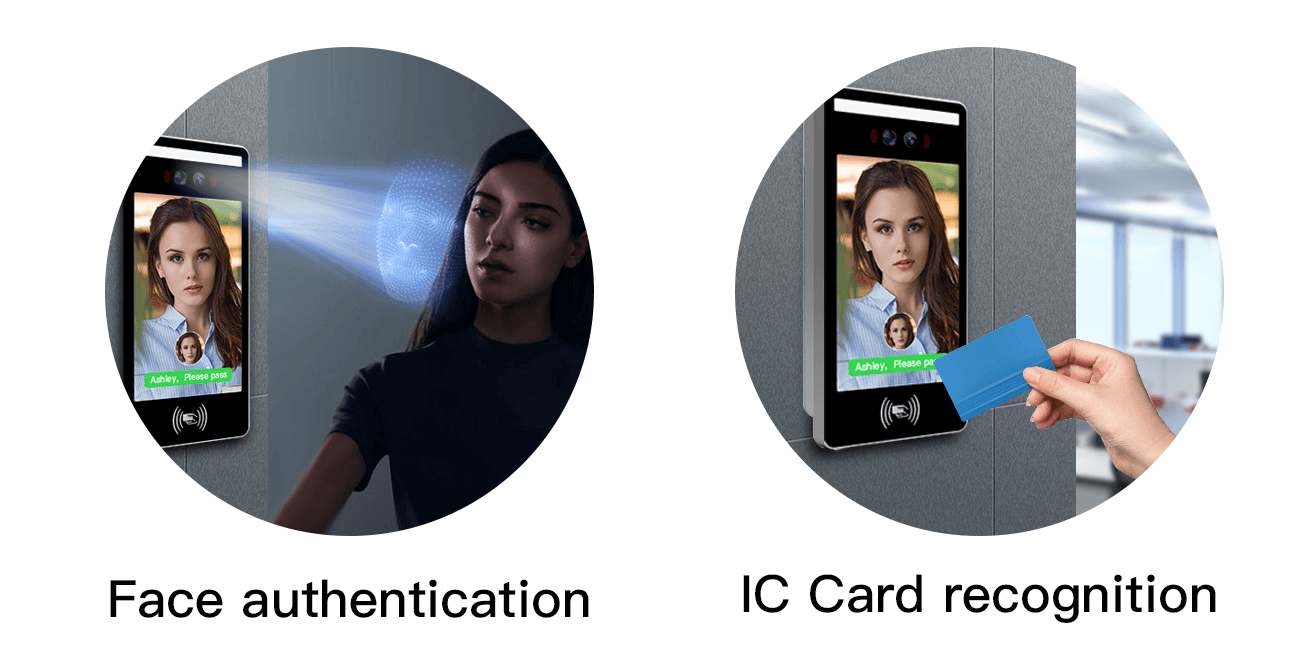 Face authentication、IC Card recognition