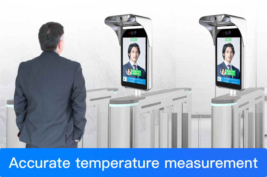 What are the optional features of the face recognition temperature measurement system?